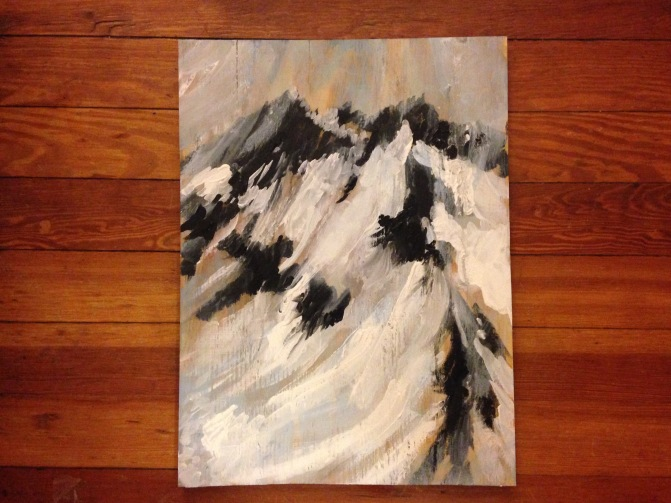 Geomorphology Abstract Acrylic Painting on Wood